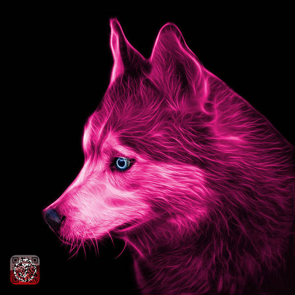 Painting - Pink Siberian Husky Art - 6048 - Bb by James Ahn