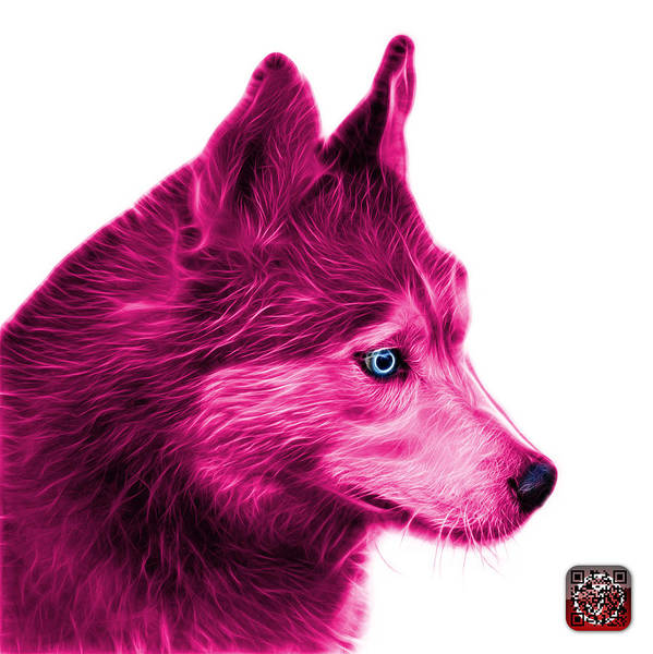 Painting - Pink Siberian Husky Art - 6048 - Wb by James Ahn