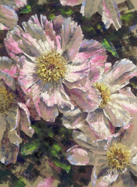 Pink Single Peonies Art Print