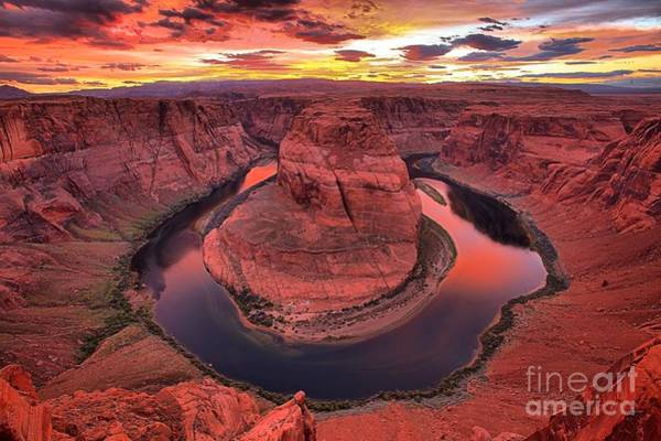 Photograph - Pink Skies Over Horseshoe Canyon by Adam Jewell