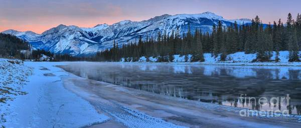 Photograph - Pink Skies Over The Athabasca River by Adam Jewell