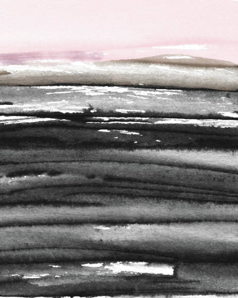 Landscapes Mixed Media - Pink Sky Horizon- Art By Linda Woods by Linda Woods