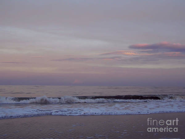 Photograph - Pink Sky Over The Atlantic by D Hackett
