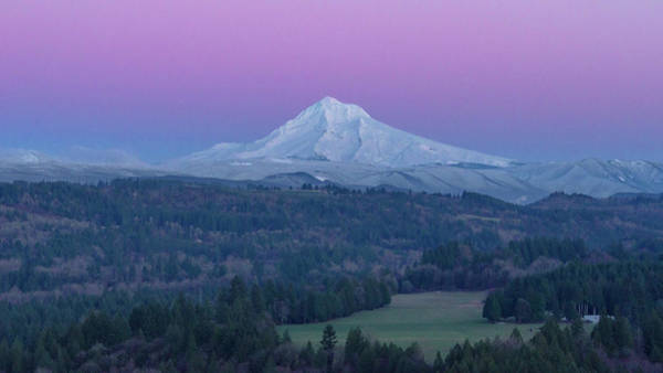Wall Art - Photograph - Pink Sky, White Mountain by Happy Home Artistry