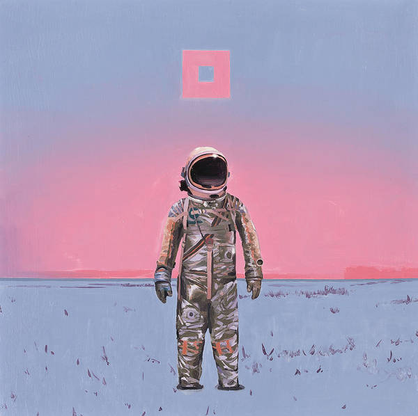 Science-fiction Wall Art - Painting - Pink Square by Scott Listfield