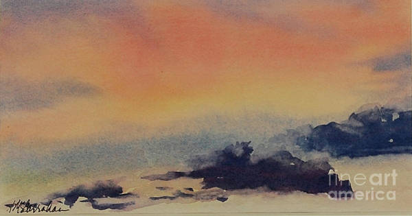 Wall Art - Painting - Pink Sunset by Annette McGarrahan