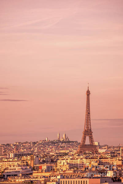 Wall Art - Photograph - Pink Sunset In Paris by Delphimages Photo Creations