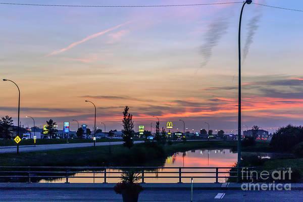 Wall Art - Photograph - Pink Sunset Over The Souris River by Viktor Birkus