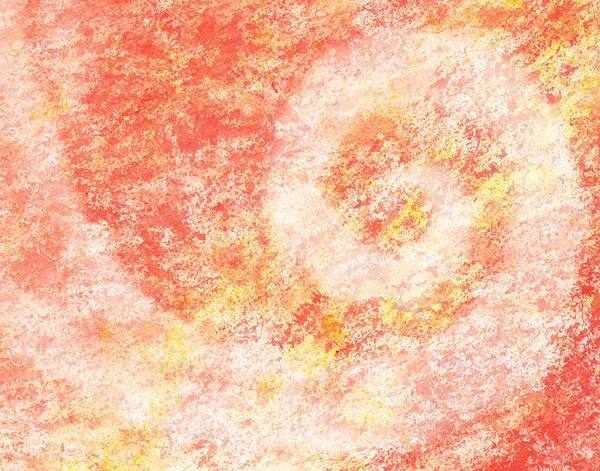 Sponge Painting - Pink Swirl Abstract by Irina Sztukowski