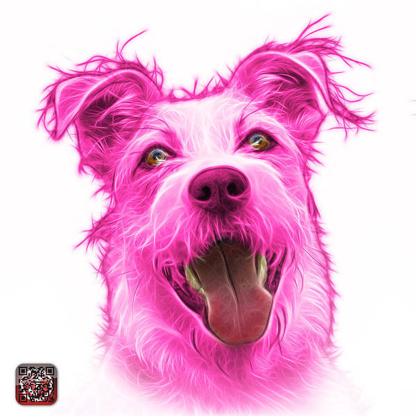 Painting - Pink Terrier Mix 2989 - Wb by James Ahn