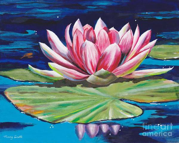 Painting - Pink Tranquility by Mary Scott