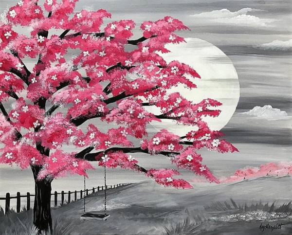 Wall Art - Painting - Pink Tree Swing by Elizabeth Hazelet