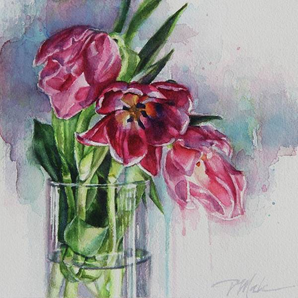 Painting - Pink Tulips by Tracy Male