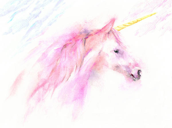 Painting - Pink Unicorn by Elizabeth Lock