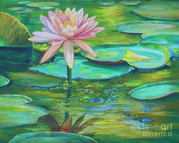 Wall Art - Painting - Pink Water Lily by AnnaJo Vahle