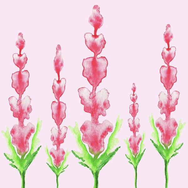 Girly Painting - Pink Watercolor Abstract Flowers by Irina Sztukowski