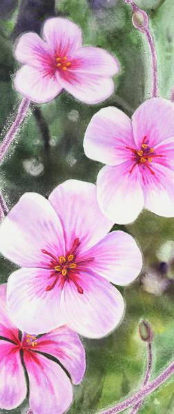 Painting - Pink Watercolor Flowers Vertical Format by Irina Sztukowski