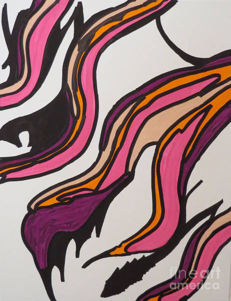 Painting - Pink Waves by Mary Mikawoz