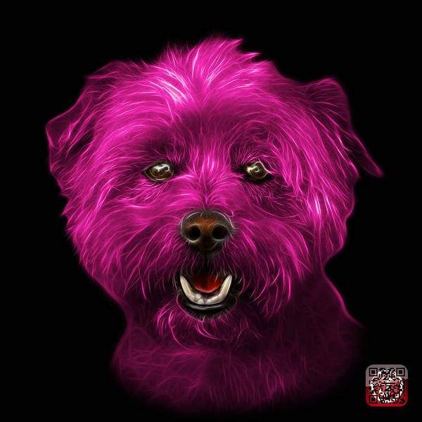Mixed Media - Pink West Highland Terrier Mix - 8674 - Bb by James Ahn