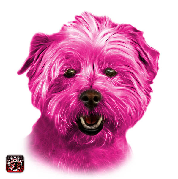 Mixed Media - Pink West Highland Terrier Mix - 8674 - Wb by James Ahn