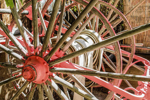 Photograph - Pink Wheel Abstract 2 by Bonnie Follett