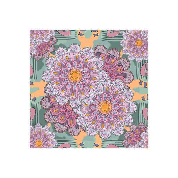 Digital Art - Pink Zinnia Mandala by April Burton