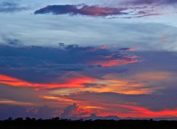 Disappearance Photograph - Pinkish Sunset Clouds by Joe Wyman
