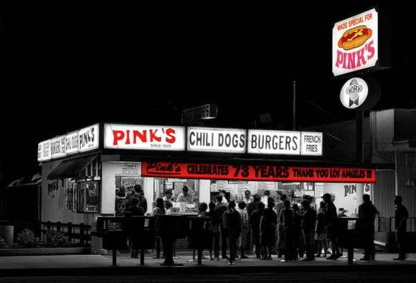 Neon Pink Photograph - Pink's Hotdogs Of Los Angeles by Mountain Dreams