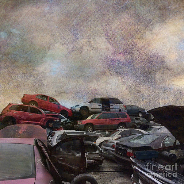 Car Wreck Wall Art - Photograph - Pins And Needles by AJ Yoder