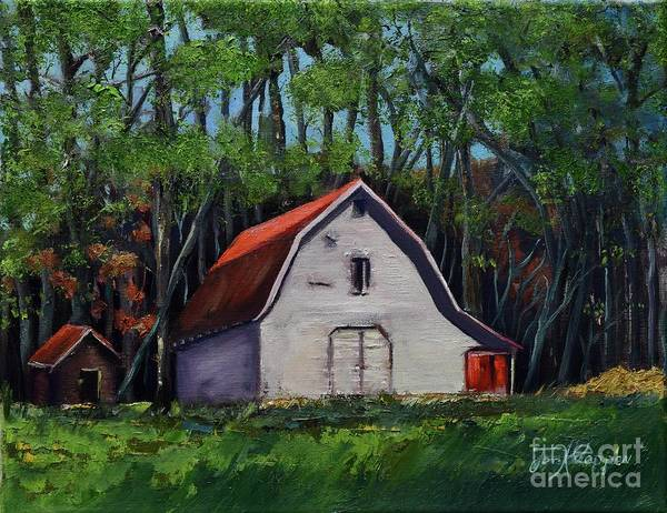 Painting - Pinson Barn At Harrison Park by Jan Dappen