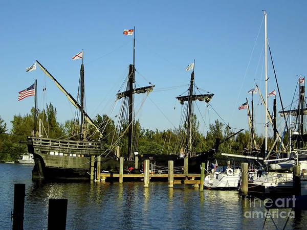 Floating Museum Photograph - Pinta At Port by D Hackett
