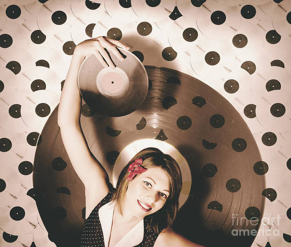 Photograph - Pinup Dj Rocking Around The Clock  by Jorgo Photography - Wall Art Gallery