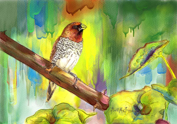Painting - Pinzon Canella by Janet Garcia