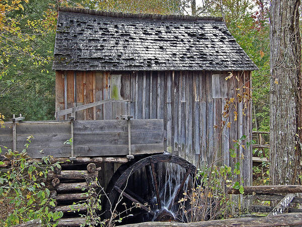 Shed Digital Art - Pioneer Water Mill by DigiArt Diaries by Vicky B Fuller