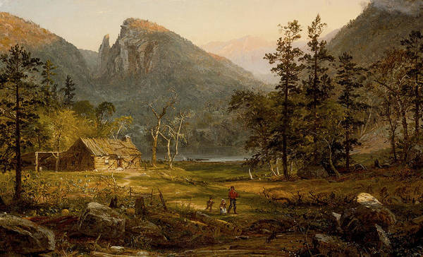 Gully Photograph - Pioneer's Home Eagle Cliff  White Mountains by Jasper Francis Cropsey
