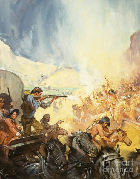 Wall Art - Painting - Pioneers Of The West by James Edwin McConnell
