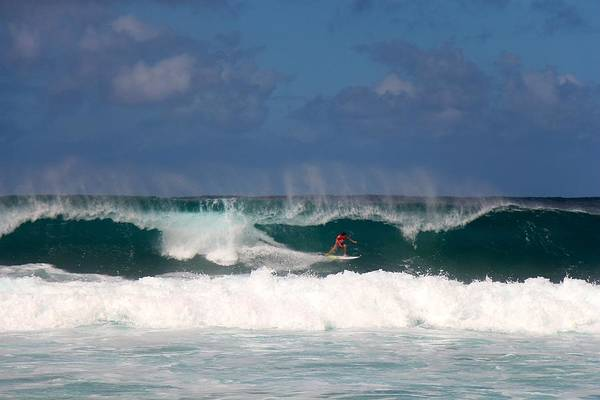 Bodyboard Photograph - Pipe Backdrop by Benen  Weir
