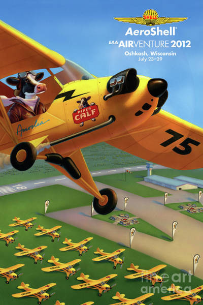 Painting - Piper Aircraft Poster  by Robin Moline
