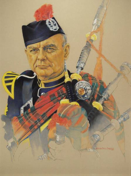 Bagpipe Wall Art - Painting - Piper by Steven Paul Carlson