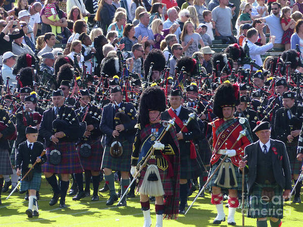 Photograph - Pipers And People - Braemar Gathering 2017 by Phil Banks