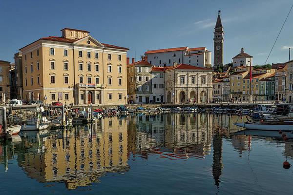 Photograph - Piran Marina Reflections #2 by Stuart Litoff