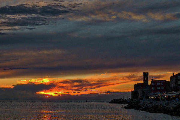 Photograph - Piran Slovenia Sunset #2 by Stuart Litoff
