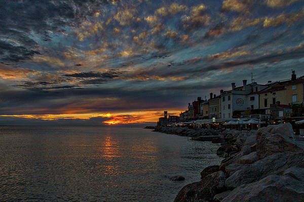 Photograph - Piran Slovenia Sunset by Stuart Litoff
