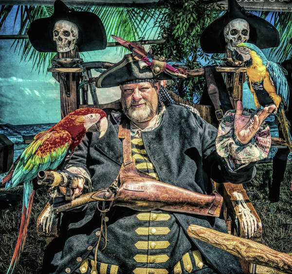 Wall Art - Photograph - Pirate Captain And Parrots by Garry Gay