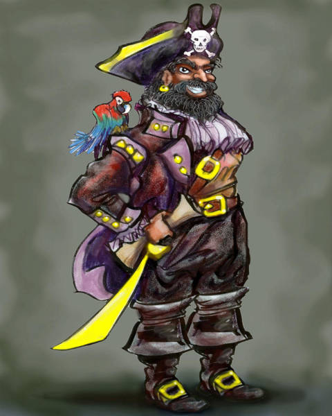 Digital Art - Pirate Captain by Kevin Middleton