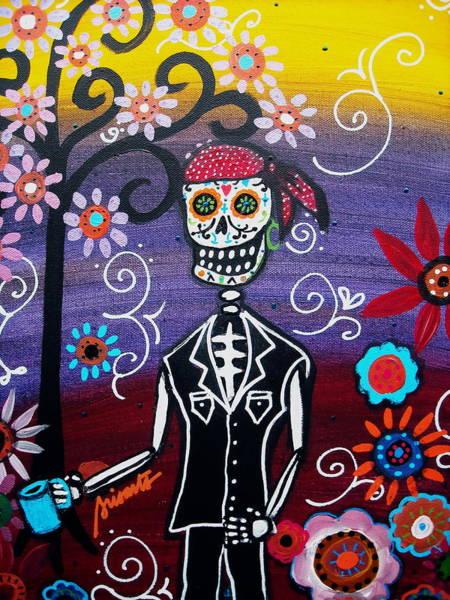 Harana Wall Art - Painting - Pirate Dia De Los Muertos by Pristine Cartera Turkus