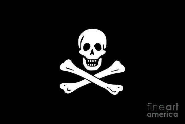 Digital Art - Pirate Flag Tee by Edward Fielding