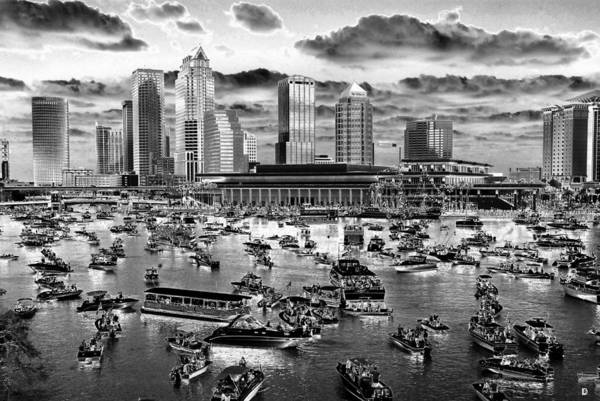Tampa Digital Art - Pirate Invasion Graphic Work A by David Lee Thompson