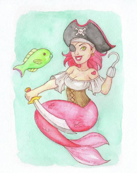 Inking Painting - Pirate Mermaid - Mermay 2018 by Armando Elizondo