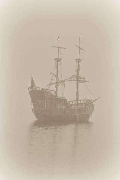 Nelson Bc Photograph - Pirate Ship In Sepia by Joy McAdams